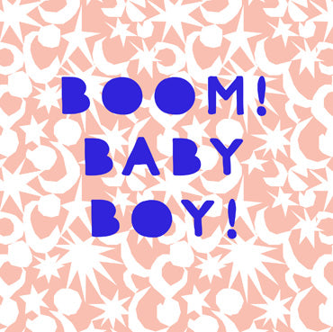 BEA135 - Boom! Baby Boy Greeting Card