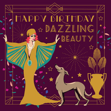 CBR102 - Dazzling Beauty Foil Birthday Card