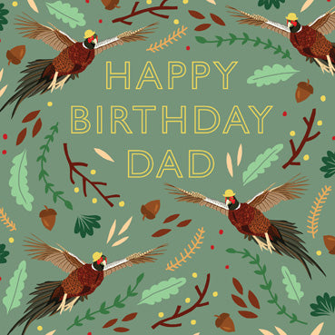 HDS102 - Happy Birthday Dad (Pheasants) Birthday Card