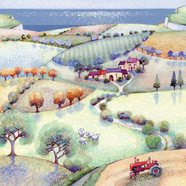 HM136 - Tractor to the Sea Greeting Card