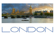 Load image into Gallery viewer, LDN-003 - The Houses of Parliament and Westminster Bridge Panoramic Postcard