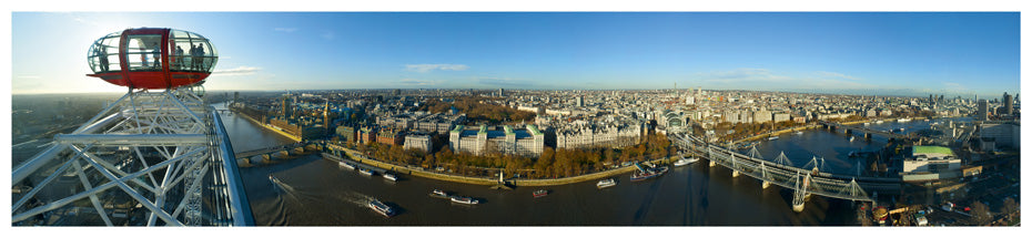LDN-006 - London from the London Eye Panoramic Postcard
