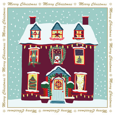 LXM103 (Pack) - Winter House Christmas Pack (5 cards)