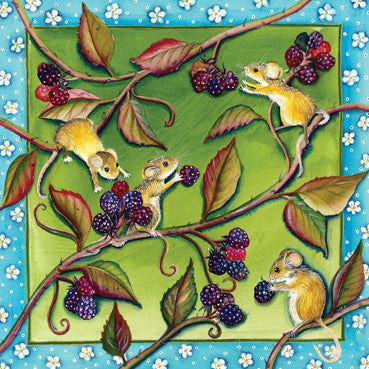 NET109 - Harvest Mice Greeting Card