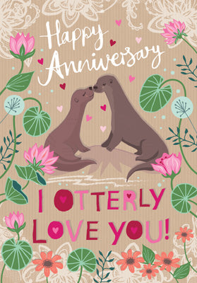 PL304 - I Otterly Love You Anniversary Card