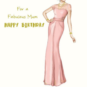 SPS811 - For a Fabulous Mum Birthday Card (With Adornments)