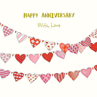 SPS816 - Happy Anniversary With Love Card (With Adornments)