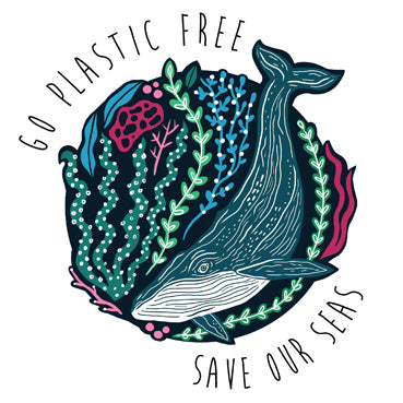 TW102 - Go Plastic Free Save Our Seas Greeting Card
