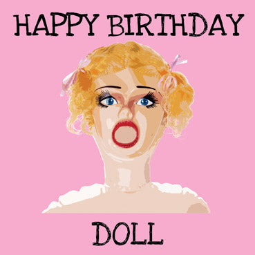 WOW114 - Happy Birthday Doll Greeting Card