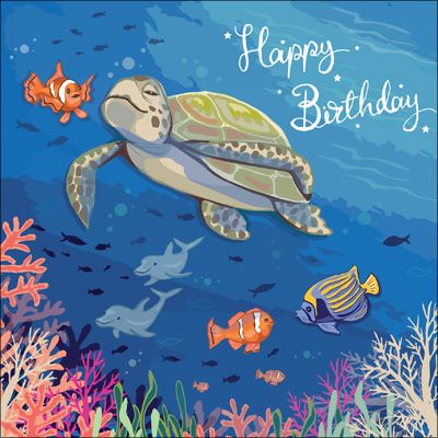 SAS124 - Happy Birthday (Turtle) Birthday Card
