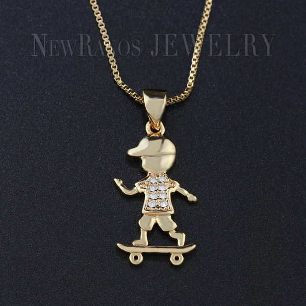 Golden Skaterboy Necklace