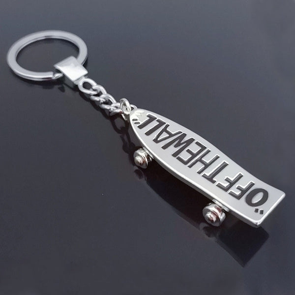 Off The Wall Skateboard Keychain