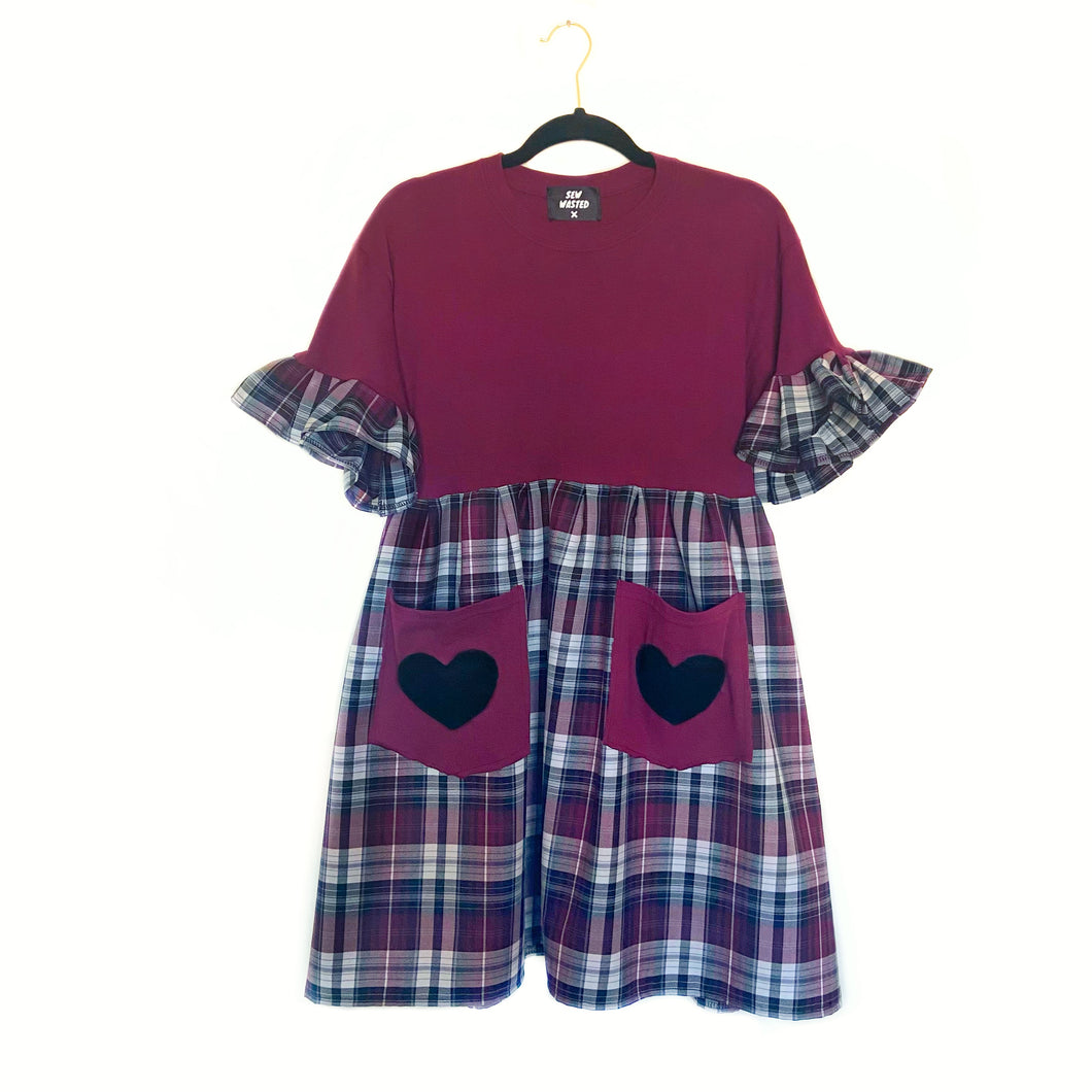 Sweetheart Pocket Smock Dress