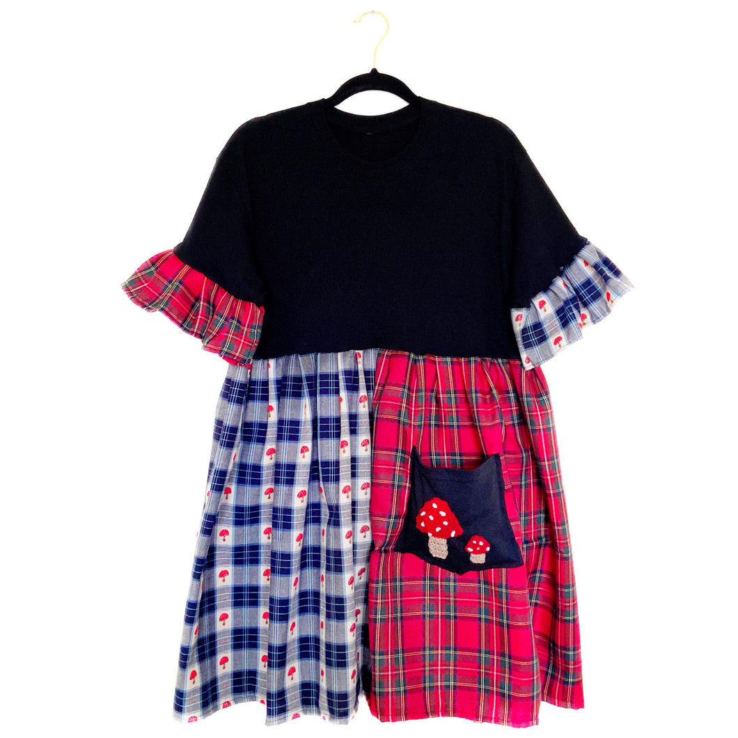Tartan Toadstool Smock Dress