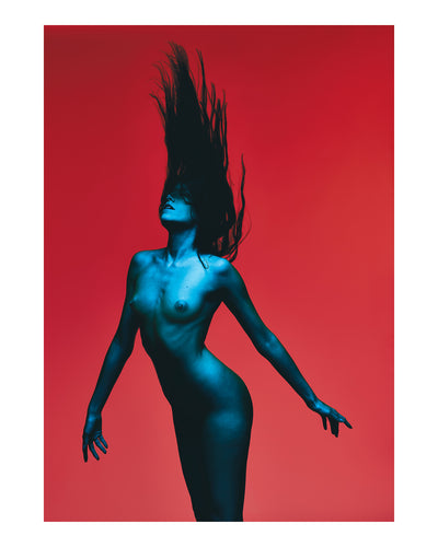 8220Red Turquoise Nude8221 2019 Limited Edition print
