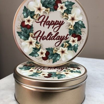 Holly Wreath - 16 oz