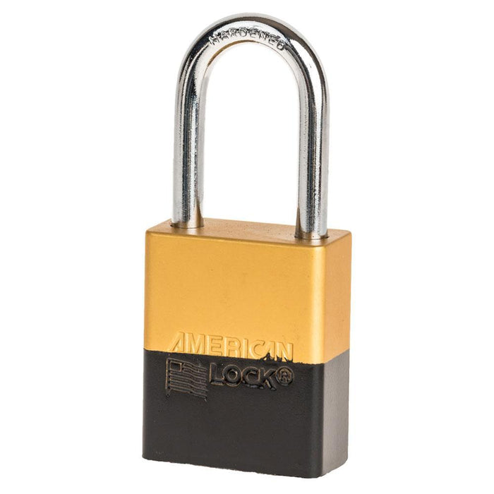 American Lock A1106 Anodized Aluminum Safety Padlock, 1-1/2in (38mm) Wide with 1-1/2in (38mm) Tall Shackle-Keyed-HodgeProducts.com