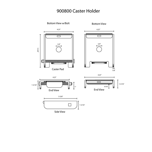 Hodge Products 900800 Caster Holder-HodgeProducts.com