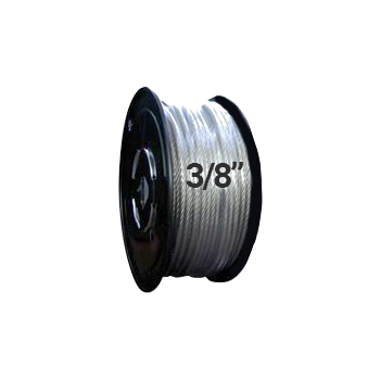 "Hodge Products 25012 - 3/8"" Diameter Aircraft Cable 7 x 19-HodgeProducts.com"
