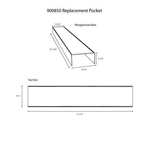 Hodge Products 900850 Replacement Pocket for Bins-HodgeProducts.com