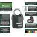 Master Lock 6121 ProSeries® Weather Tough® Laminated Steel Rekeyable Padlock 2-1/8in (54mm) Wide-Keyed-HodgeProducts.com