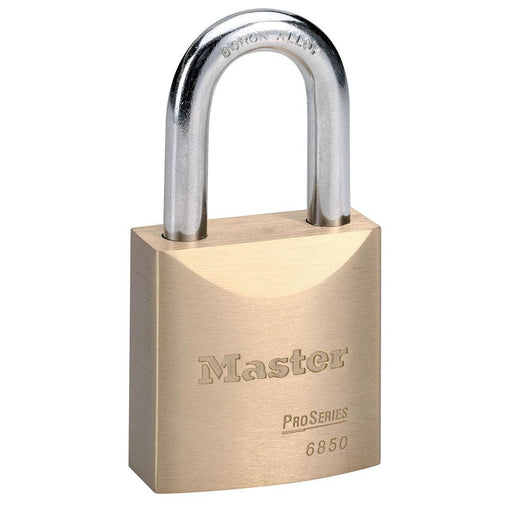 Master Lock 6850 ProSeries® Solid Brass Rekeyable Padlock 2in (51mm) Wide-Keyed-HodgeProducts.com
