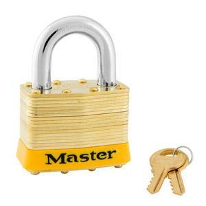 Master Lock 6 Laminated Brass Padlock 2in (51mm) Wide-Keyed-HodgeProducts.com