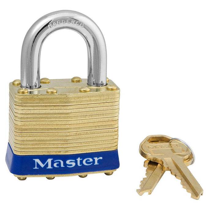 Master Lock 82 Laminated Brass Padlock 1-3/4in (44mm) Wide-Keyed-HodgeProducts.com