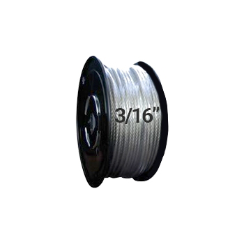 "Hodge Products 21008 - 3/16"" Diameter Aircraft Cable 7 x 7-HodgeProducts.com"