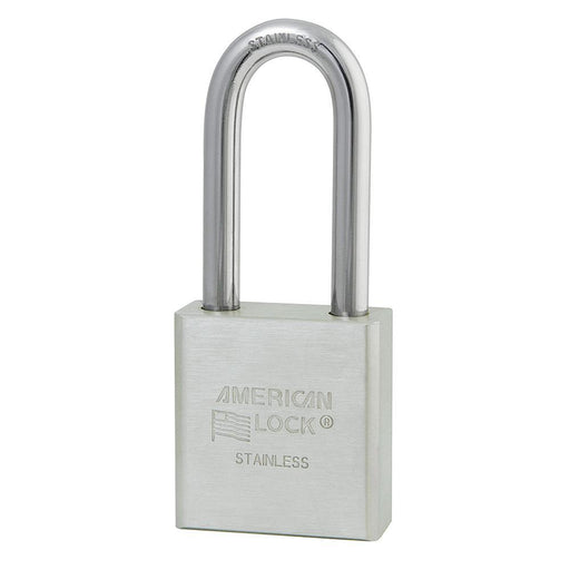 American Lock A5401 1-3/4in (44mm) Solid Stainless Steel Padlock with 2in (51mm) Shackle-Keyed-HodgeProducts.com