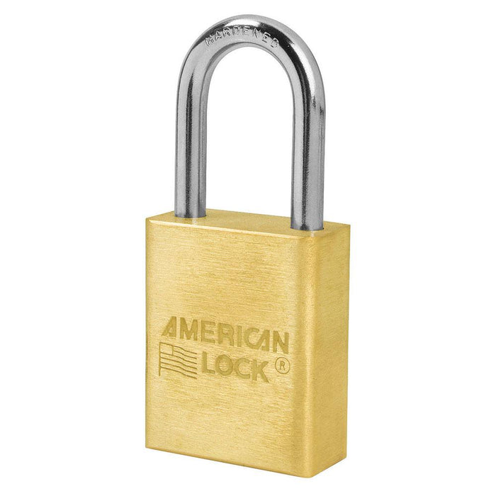 American Lock A6531 1-1/2in (51mm) Solid Brass 6-Padlock with 1-1/2in (51mm) Shackle-Keyed-HodgeProducts.com