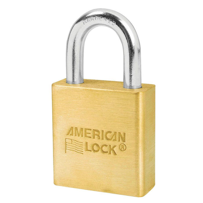 American Lock A6560 Solid Brass 6-Padlock 1-3/4in (44mm) Wide-Keyed-HodgeProducts.com