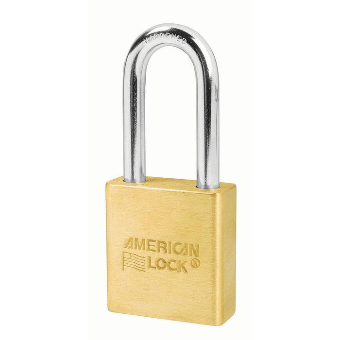 American Lock A6561 1-3/4in (44mm) Solid Brass 6-Padlock with 2in (51mm) Shackle-Keyed-HodgeProducts.com