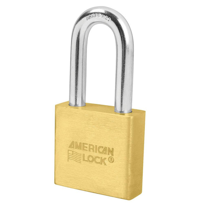 American Lock A6571 2in (51mm) Solid Brass 6-Padlock with 2in (51mm) Shackle-Keyed-HodgeProducts.com