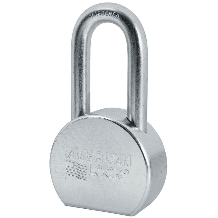 American Lock A703 2-1/2in (64mm) Solid Steel Rekeyable Padlock, Zinc Plated, with 2in (51mm) Shackle-Keyed-HodgeProducts.com
