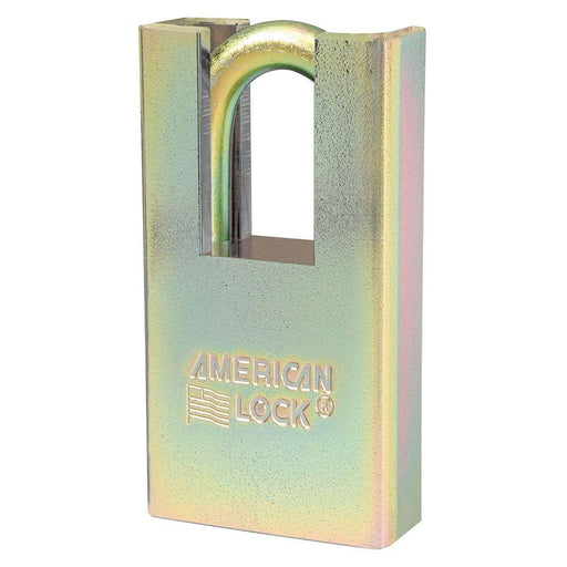 Master Lock A5200GLSHNKA Government Padlock, with Hidden Shackle and 1-1/8in (28mm) Tall Shackle-Keyed-HodgeProducts.com