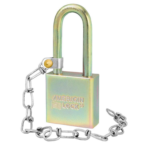 Master Lock A5201GLWNKA Government Padlock, with Chain and 2in (50mm) Tall Shackle-Keyed-HodgeProducts.com