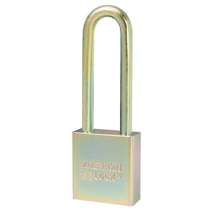Master Lock A5202GLN Government Padlock, with 3in (75mm) Tall Shackle-Keyed-HodgeProducts.com