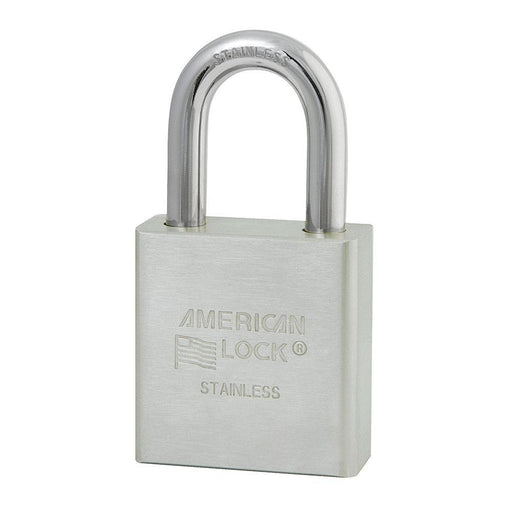 American Lock A5400 Solid Stainless Steel Padlock 1-3/4in (44mm) Wide-Keyed-HodgeProducts.com