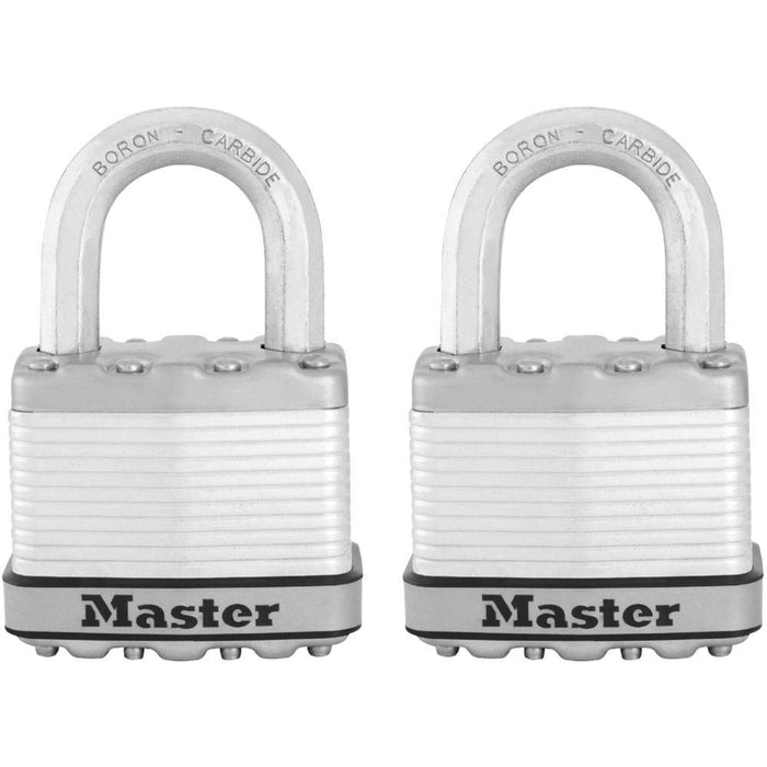 Master Lock M5XTHC 2in (51mm) Wide Magnum® Laminated Steel Padlock; 2 Pack-HodgeProducts.com