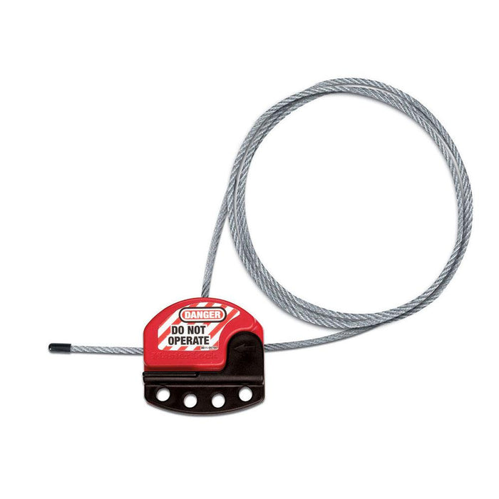 Master Lock S806 3ft - 24ft Long Adjustable Cable Lockout-HodgeProducts.com
