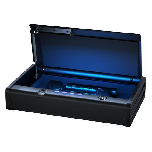 Master Lock QAP2BEL Quick Access Biometric Pistol Safe with LED Interior Lights-HodgeProducts.com