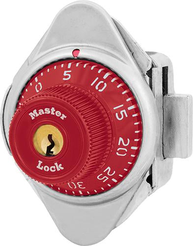 Master Lock 1631MD Built-In Combination Lock with Metal Dial for Lift Handle Lockers - Hinged on Left-HodgeProducts.com