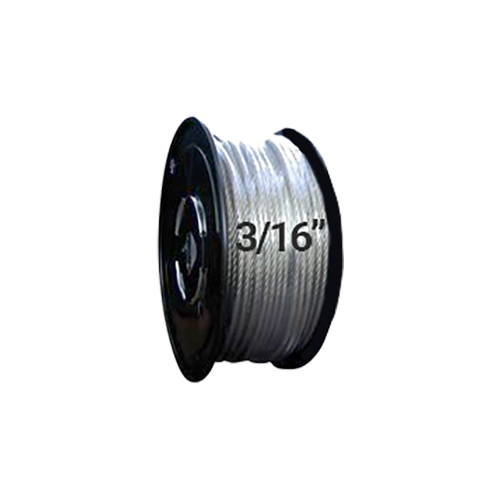 "Hodge Products 25033 - 3/16"" Diameter Aircraft Cable 7 x 19 - Reel of 500 ft-HodgeProducts.com"