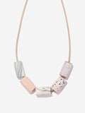 Ceramic Bead Necklace - Blush/Marble
