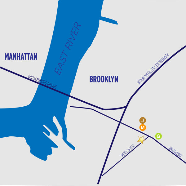 Map to 325 Rutledge St. Brooklyn NY 11211