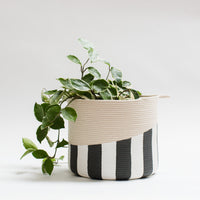 Striped Large Basket
