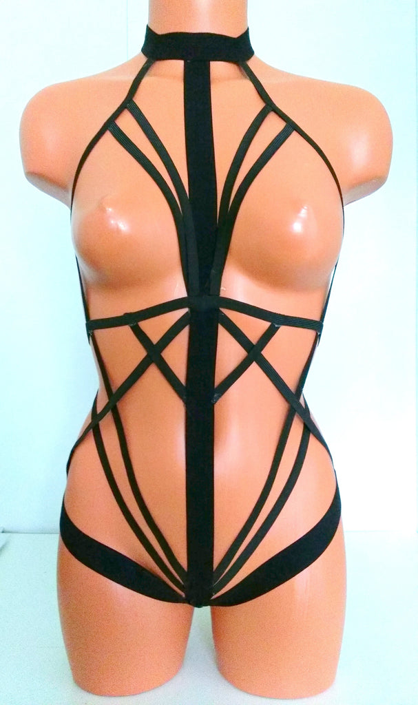 Black One Piece Harness