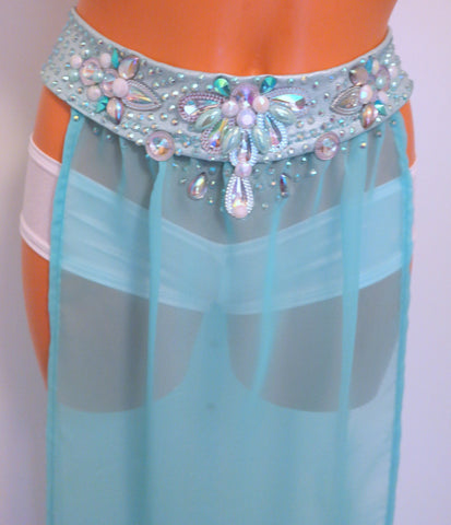 Dreamy Jeweled Long Rave Skirt-MORE COLORS!