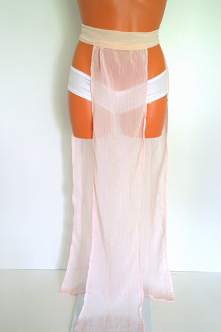 Rose Gold Sheer Maxi Skirt